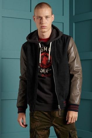 Superdry Varsity Leather Jacket