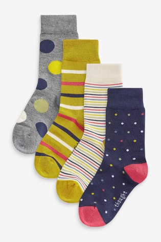 Thought Blue Shay Kids Sock Box Four Pack
