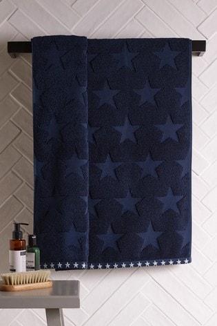 Navy Star Towel