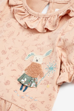 Pink Floral Bunny Blouse (3mths-7yrs)