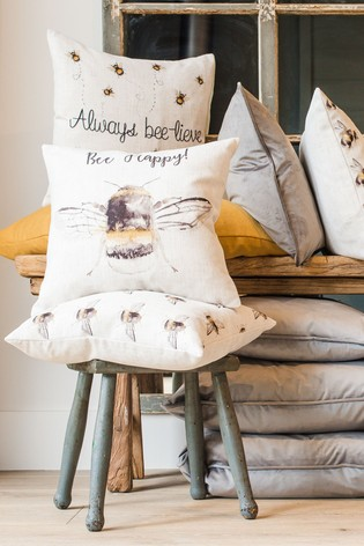 Bee Lieve Cushion by Evans Lichfield
