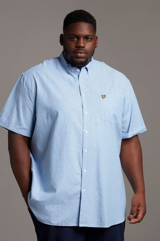 Lyle & Scott Plus Size Oxford Short Sleeve Shirt
