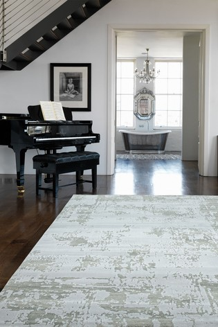 Asiatic Rugs Silver Astral Textured Abstract Rug