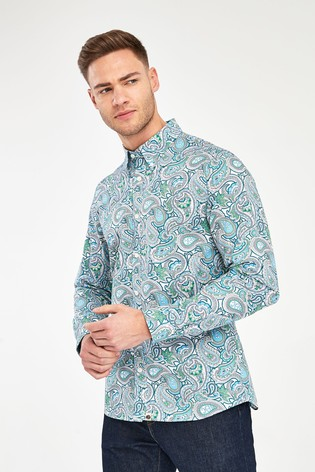 Pretty Green Marshall Paisley Pattern Shirt