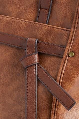 Tan Knot Detail Shopper Bag