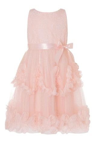 Monsoon Rosette Lace Dress