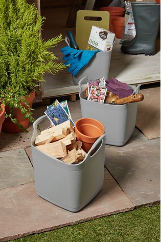 Set of 3 8L Flexi Store Graduated Square Tubs by Wham