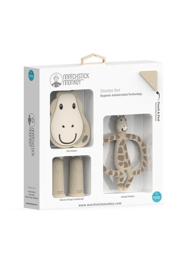 Matchstick Monkey Yellow Gigi Giraffe Teething Starter Set
