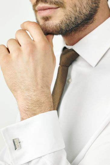 Silver Tone Wedding - Father of The Bride Cufflinks