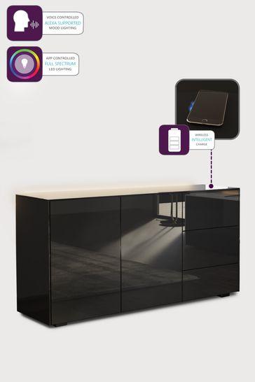 Frank Olsen Smart LED Black Sideboard