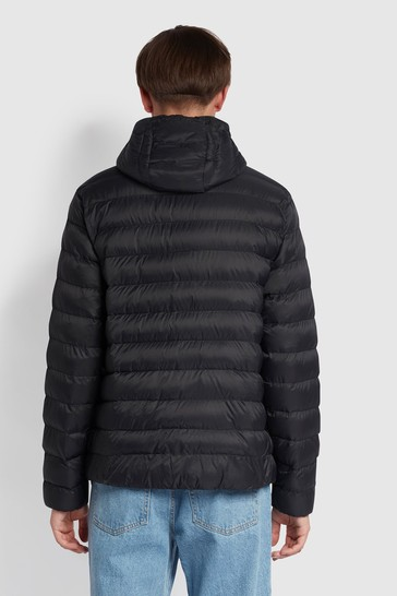 Farah Black Strickland Wadded Jacket