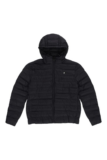 Farah Black Strickland Wadded Jacket