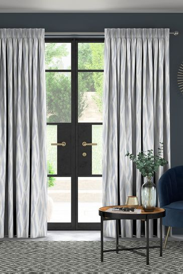 Sky Blue Ayers Made To Measure Curtains