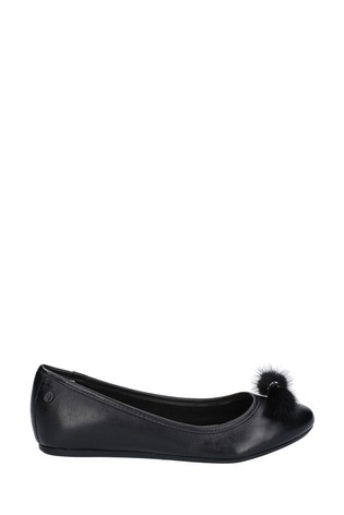Hush Puppies Black Heather Puff Ballet Shoes