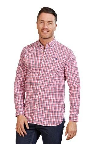 Raging Bull Pink Long Sleeve Multi Check Shirt