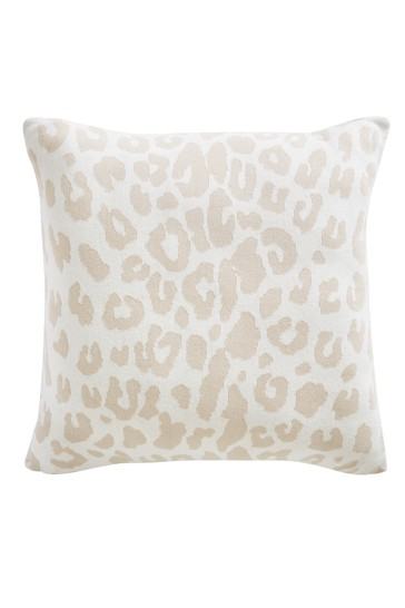 Tess Daly Leopard Knit Cushion