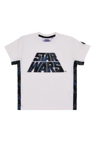 Fabric Flavours White Star Wars™ Camo Logo T-Shirt
