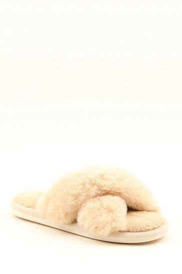 Heavenly Feet Camel Ladies Comfort Slippers