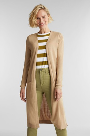 Esprit Cream Long Sleeved Cardigan