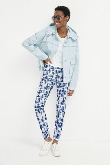 Blue Tie Dye Full Length Leggings
