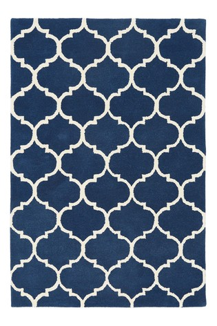 Albany Ogee Wool Rug by Asiatic Rugs