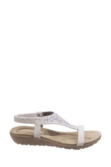 Fleet & Foster White Nicosia Slingback Sandals