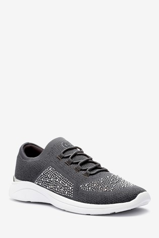 Buy Dune London Grey Easy Lace-Up