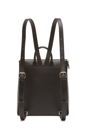 DKNY Black Bryant Leather Zip Backpack