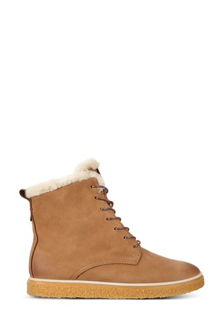 ECCO® Crepetray Lace Warm Lined Boots