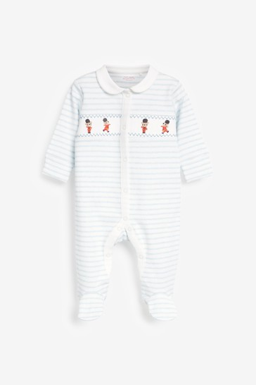 White Soldiers 3 Pack Embroidered Sleepsuits (0-2yrs)