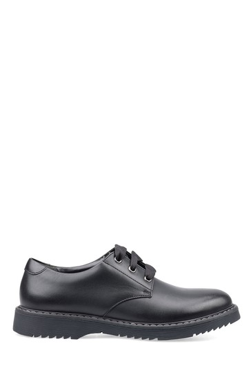 Start-Rite Impact Black Wide Fit Leather Shoes