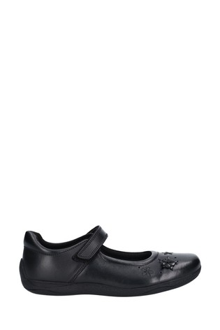 Hush Puppies Black Candy Junior Touch Fastening Shoes