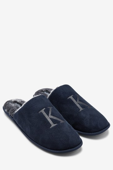 Navy Extra Large Monogram Slippers