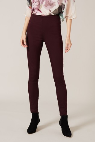 Phase Eight Red Amina Double Zip Jeggings