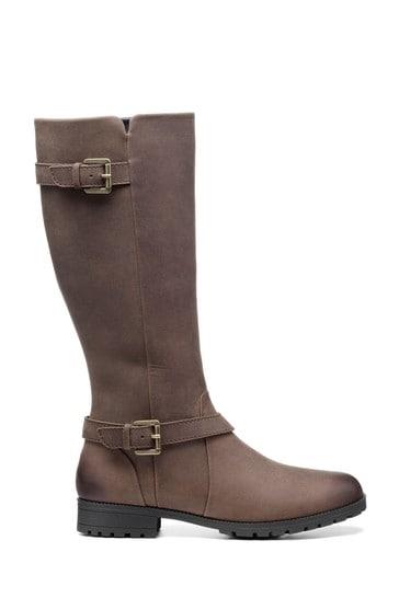 Hotter Belgravia Wide Fit Zip Fastening Knee Boots