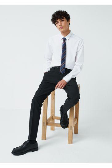 Black Skinny Fit Machine Washable Plain Front Trousers