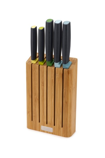 5 Piece Joseph® Joseph Elevate Knives Bamboo With Bamboo Knife Block
