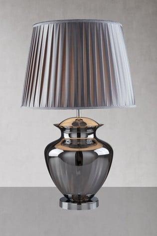 Searchlight Black Aurora Large Glass Urn Table Lamp