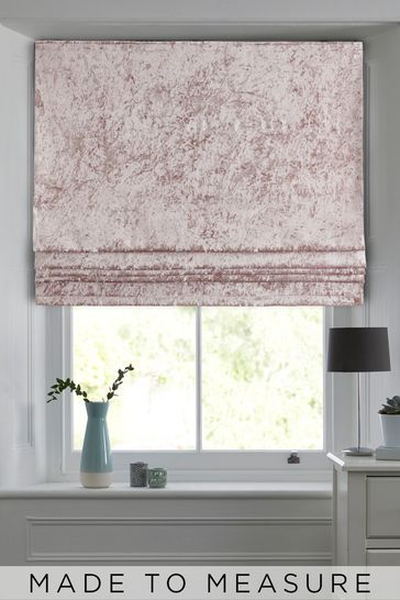 Crushed Pink Made To Measure Roman Blind