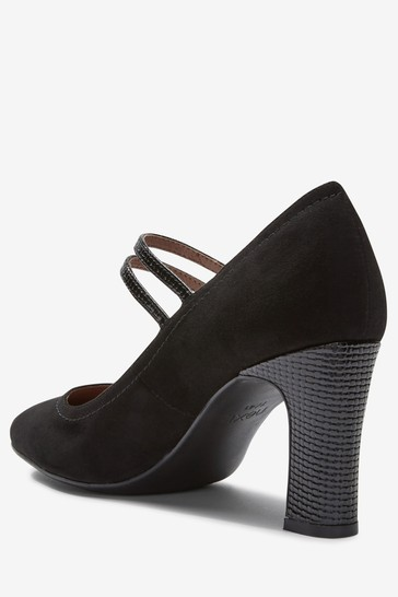 Black Regular/Wide Fit Mary Jane Shoes