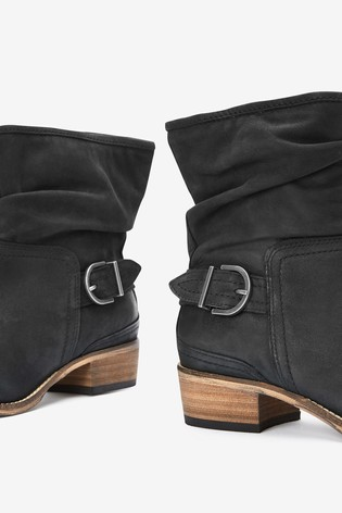 Black Extra Wide Fit Forever Comfort® Slouch Ankle Boots
