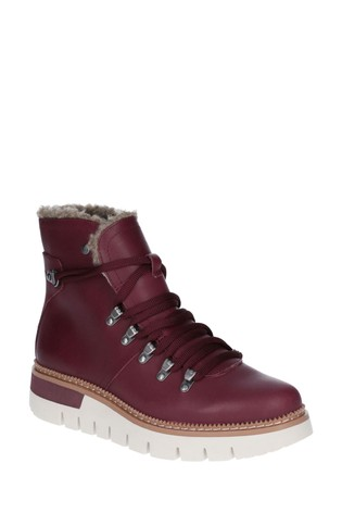 CAT® Lifestyle Red Attention Faux Fur Waterproof Boots