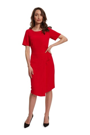 Gina Bacconi Lilianna Moss Crepe Dress