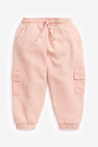 Pink Broderie Joggers Soft Touch Jersey (3mths-7yrs)