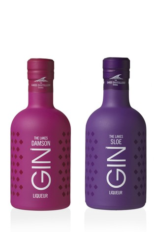 20cl Damson Gin Liqueur And Sloe Gin Liqueur Gift Set by The Lakes Distillery