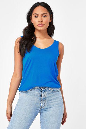 Cobalt Blue Slouch Vest