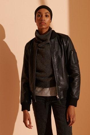 Superdry New York Leather Bomber Jacket