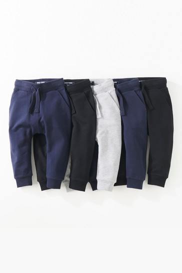 Black/Navy/Charcoal Super Skinny Joggers Five Pack (3mths-7yrs)