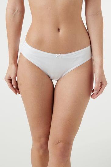 White Bikini Cotton Knickers 5 Pack