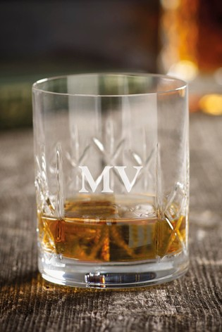 Personalised Whiskey Glass by Loveabode